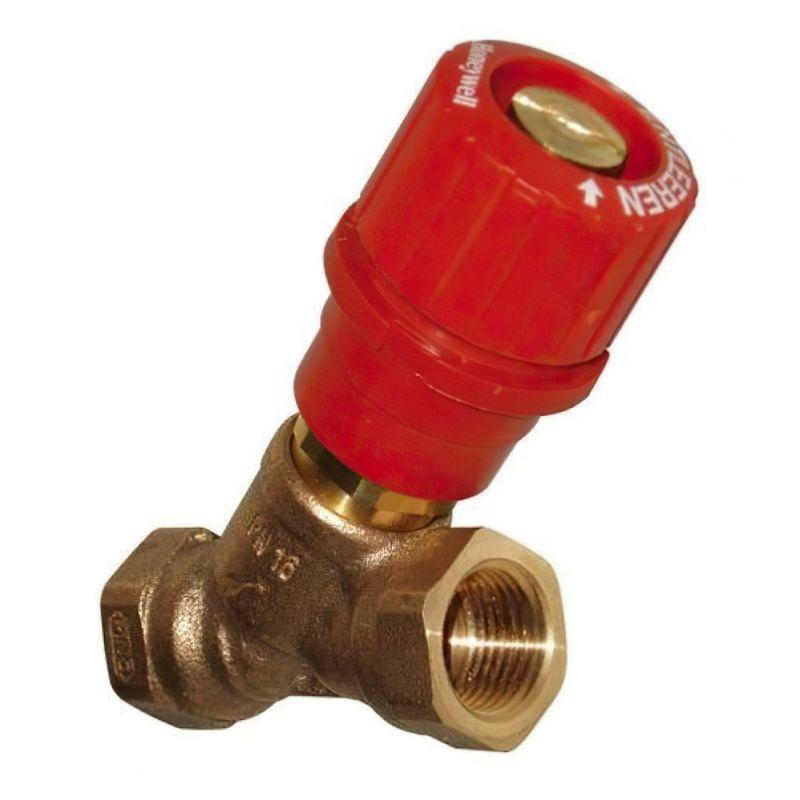 """Запорно-измерительный клапан Honeywell """"Комбі 3-плюс"""", красный, DN15"""