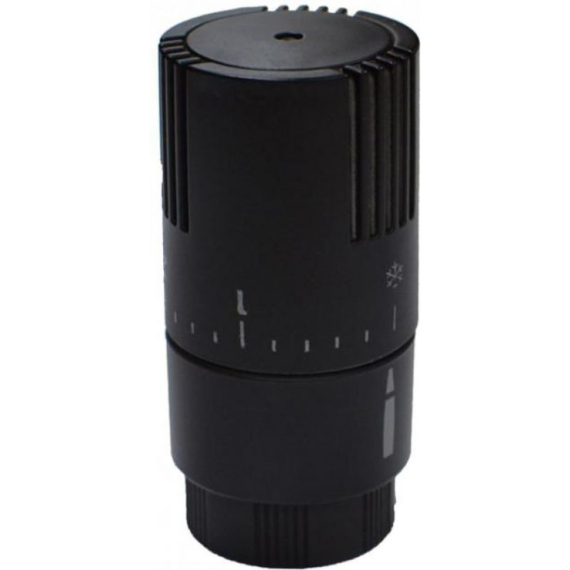 Термостатическая головка CARLO POLETTI  (жидкостный сенсор) M30x1.5 черная