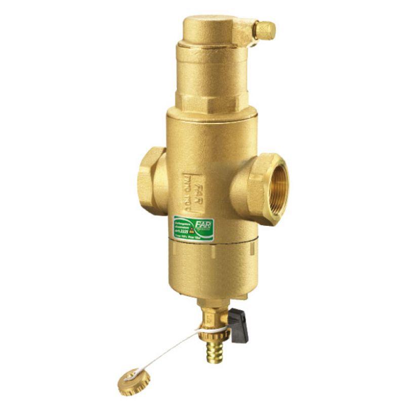 Грязеудалитель-Деаэратор для систем отопления с магнитными вставками FAR FA 2225 1