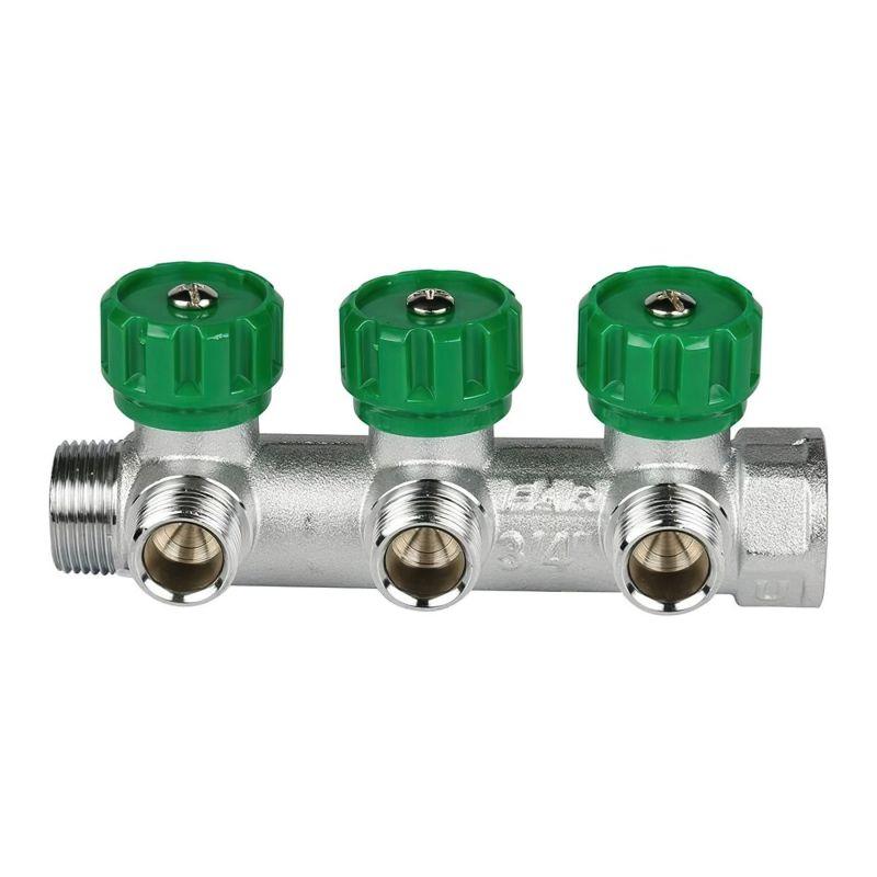 Коллектор FAR 3 отвода 1 x 3/4 TP (евроконус)