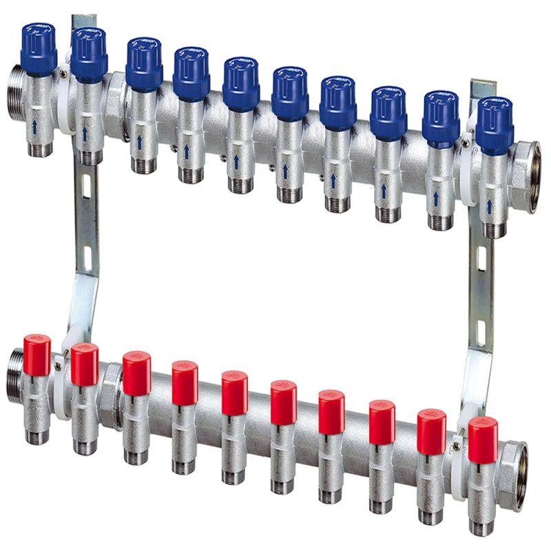 Коллектор для отопления FAR 10 контуров