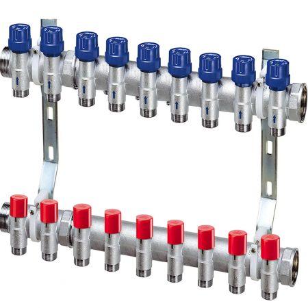 Коллектор для отопления FAR 9 контуров