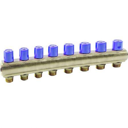 """Коллектор Bianchi с вентелями Ø1"""" х 8 х 3/4""""ЗР (синий) I=50 мм"""