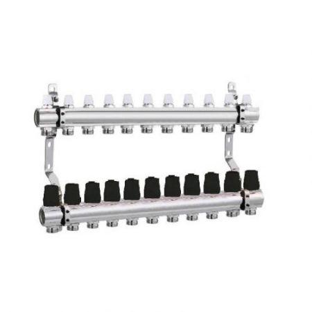 Коллектор для отопления DJOUL 1х3/4 на 11 контура без расходомеров