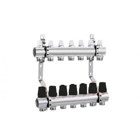 Коллектор для отопления DJOUL 1х3/4 на 7 контура без расходомеров