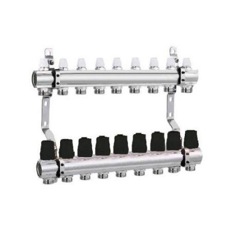 Коллектор для отопления DJOUL 1х3/4 на 9 контура без расходомеров
