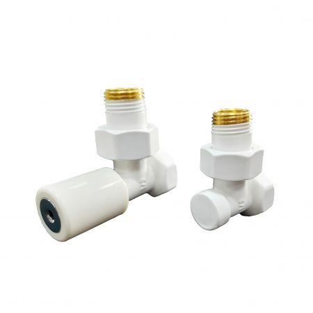 Комплект клапанов с ручной регулировкой Schlosser Elegant угловой НР 1/2 х Cu 15х1 мм