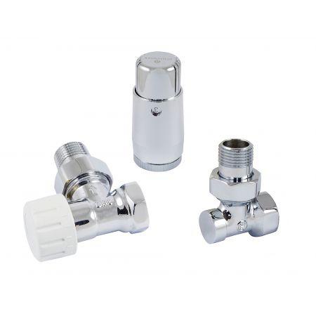 Комплект термостатический mini угловой 1/2 Schlosser Хром