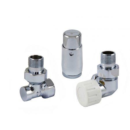 Комплект термостатический mini осевой правый 1/2 Schlosser Хром