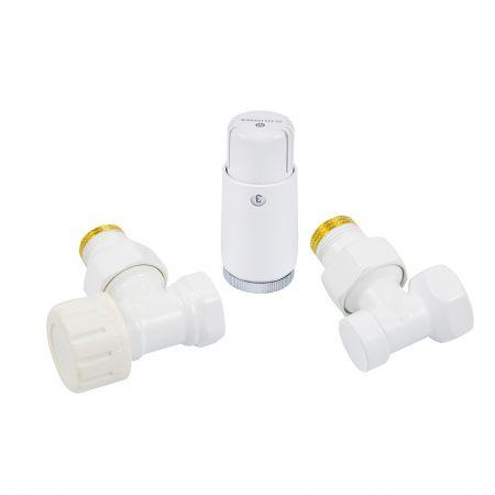 Комплект термостатический mini угловой 1/2 Schlosser Белый