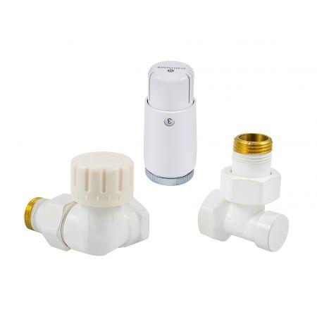 Комплект термостатический mini осевой левый 1/2 Schlosser Белый