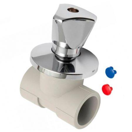 Запорный проходной вентиль для скрытого монтажа Kan-Therm PP 20 ММ