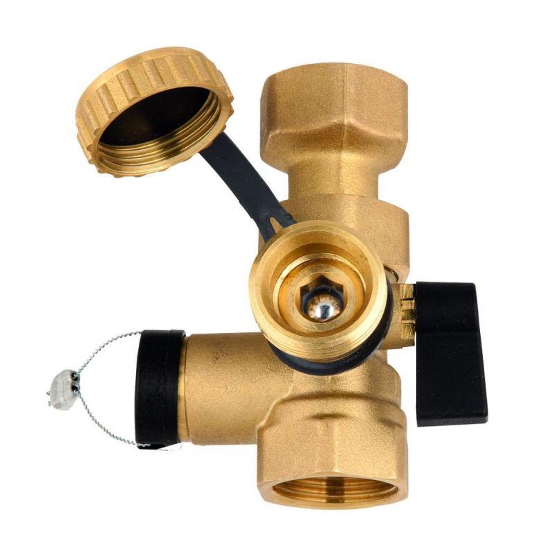 Клапан для подключения расширительного бака с краном KFE 1'' Х 1''